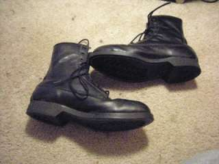 MILITARY WORK COMBAT BLACK LEATHER TACTICAL STEEL TOE JUMP BOOTS 7 R