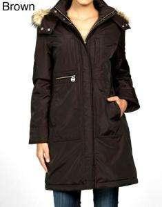 Michael Michael Kors 3/4 Faux Fur Polyfill Jacket   MED