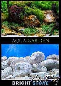 48 x 18 Aquatic Plant Garden/Stone Aquarium Background