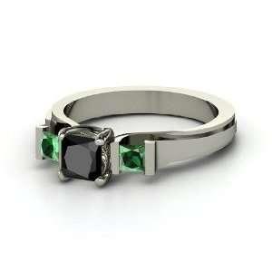 Blair Ring, Princess Black Diamond 14K White Gold Ring