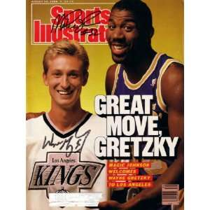 Wayne Gretzky & Magic Johnson autographed 1988 Sports