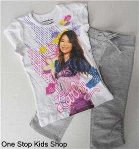 iCARLY Girls 4 5 6 Set OUTFIT Shirt Shorts Leggings I CARLY