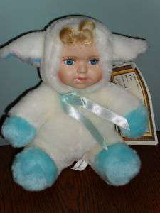Ashley Belle SPIKE plush COW DOLL porcelain w/Tag
