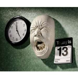 Screaming Human Face Wall Sculpture Statue Figurine