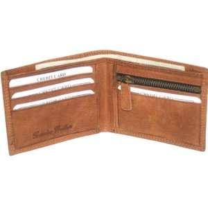 Hunte Leather Bi fold Mens Wallet Brown#HU1658 Office