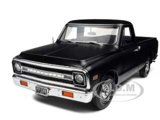 CHEVROLET FLEETSIDE PICKUP TRUCK MATT BLACK 1/18 804902508790
