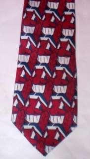 Mens Ralph Marlin Cleveland Indians Logo Necktie