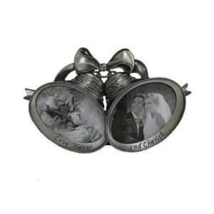 Fetco Home Decor   Melissa Double Bell Pewter