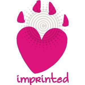 Imprinted Heart Pawprint Vinyl Decal