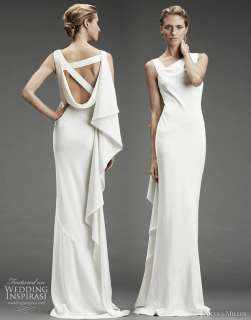 Nicole Miller wedding dress Fall/Winter 2010   silk stretch dress with