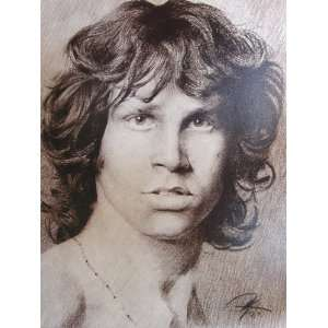 The Doors   James Morrison Sketch Portrait, Charcoal Graphite Pencil