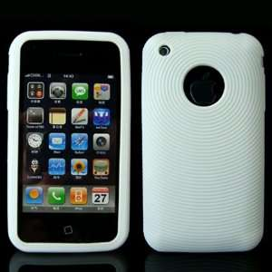 iPhone 3G / 3GS White Swirling Soft Silicone High Quality Phone Case