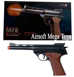 M28F Night Hawk German Luger Replica Spring Pistol FPS 200 Airsoft Gun
