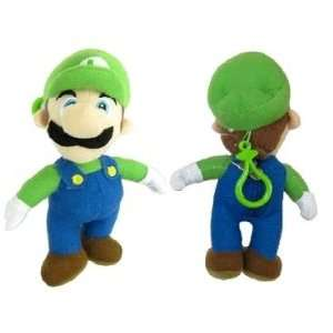 Nintendo Super Mario (Luigi) Plush Doll 7 Coin Bag with Clip Keychain
