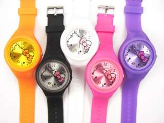 Kitty Silicone Gel Children Jelly wrist Watch Wholesale #303