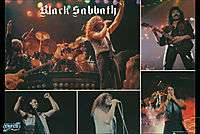 BLACK SABBATH POSTER Live on Stage Collage RARE HOT NEW
