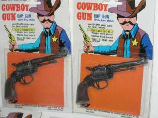 usa sale only inv 113cwby 5 vintage unused mini cowboy cap gun toy