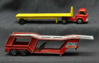 VINTAGE 60s 70s MATCHBOX COLLECTION LG. LOT LESNEY SUPER KINGS TRUCKS
