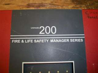 ADT Fire & Life Safety Manager Unimode 200 Alarm System