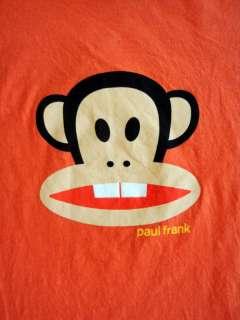 NWT Paul Frank Buck Teeth Julius T Shirt Orange Size XS