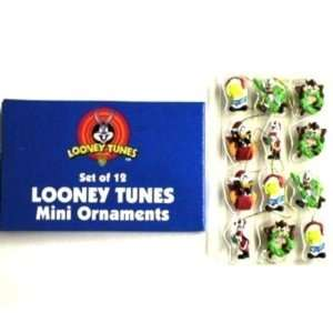 Looney Tunes Set of 12 Mini Christmas Ornaments Case Pack