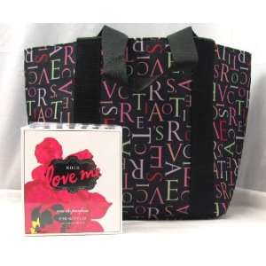 Victorias Secret Noir Love Me Perfume Gift Tote Bag 1.7