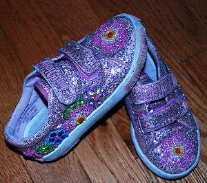 LELLI KELLY TODDLER GIRLS PINK SPARKLE SHOES SIZE 27 size 10 USA 5T