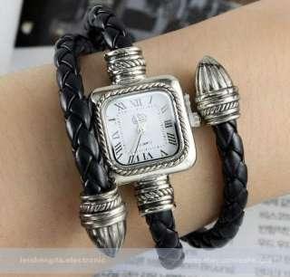 Fashion Classical Popular Braided Strap Lady Women Quartz Wrist Watch