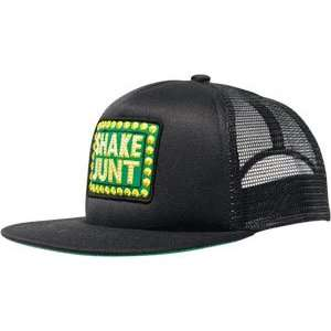 Shake Junt Box Logo Mesh Hat Adj   Black/Black: Sports