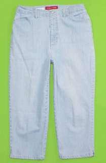 Gloria Vanderbilt sz 10 Capri Stretch Womens Blue Jeans Denim Pants