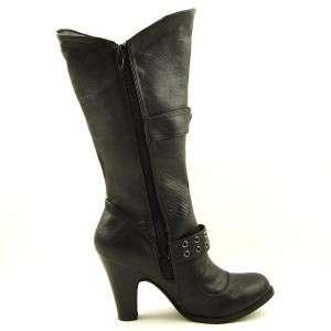 Knee High / Mid Calf Womens Boots, High Heel, Black size 9US/40EU/7AU