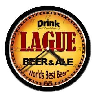 LAGUE beer and ale cerveza wall clock