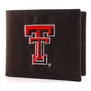 Texas Tech Red Raiders Black Bifold Wallet  Sports