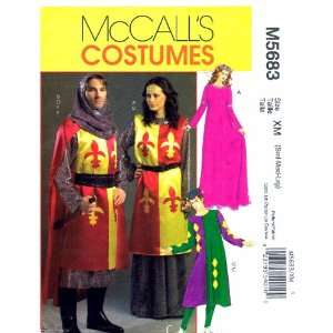 McCalls 5683 Sewing Pattern Womens Mens Medieval Costumes