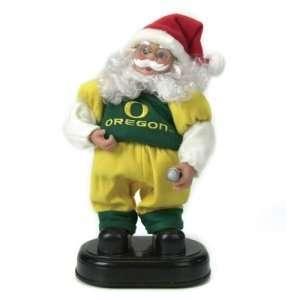 Oregon Ducks NCAA Animated Rock & Roll Dancing Santa (12