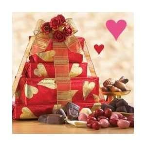 Valentines Day Tower of Chocolates   Valentine Gift Basket Everything