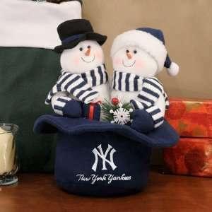 New York Yankees Snowmen Top Hat