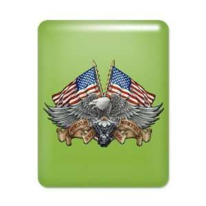 Key Lime Eagle American Flag and Motorcycle Engine