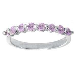 14k White Gold, Pink Sapphire Ring, Mastini (0.45 ctw
