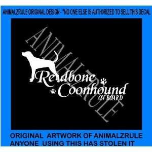REDBONE COON HOUND DOG VINYL DECAL