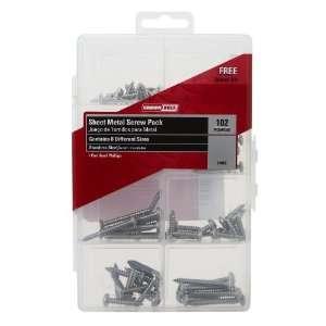 Bolt 01052 102 Piece Stainless Steel Sheet Metal Screw Assortment Kit