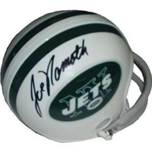 Joe Namath Autographed/Hand Signed New York Jets Mini