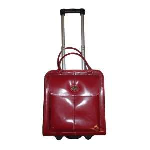 Wilsons Leather All in One Tote Rolling Travel Bag Red