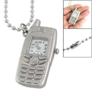 Como White Square Dial Silver Tone Cell Phone Style Watch