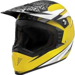 Shotgun Dirt Bike Motorcycle Helmet   Yellow / Small Automotive