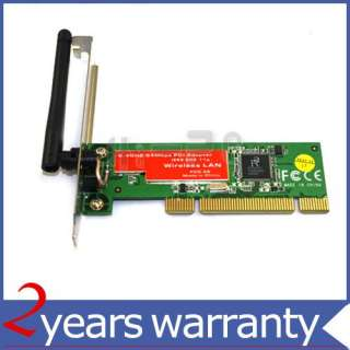 New 802.11g Wireless Network Lan WIFI PCI Adapter Card
