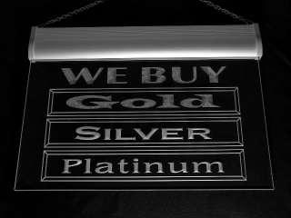 i1000 b We Buy Gold Silver Platinum Shop Display Advertising Neon