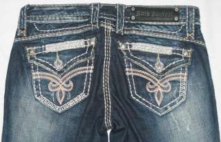 WOMENS ROCK REVIVAL ROZA JEANS SIZE 0 (24 x 32)*****
