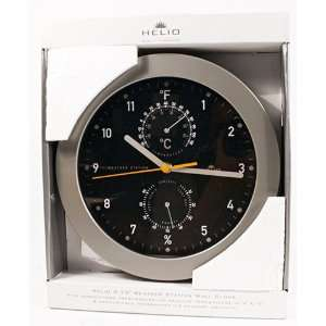 Helio 9.57 Weather Station Wall Clock with Thermometer and Hygrometer