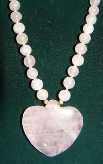 14K Genuine Pearl Rose Quartz Pendant Necklace Bracelet